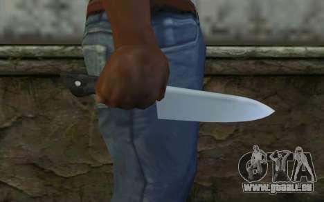 Kitchen Knife from Hitman 2 pour GTA San Andreas troisième écran