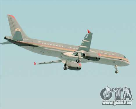 Airbus A321-200 Royal Jordanian Airlines für GTA San Andreas Rückansicht