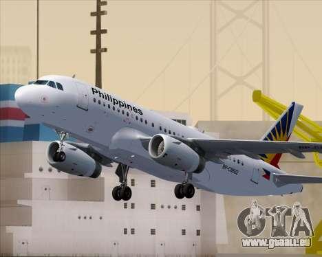 Airbus A319-112 Philippine Airlines für GTA San Andreas Räder