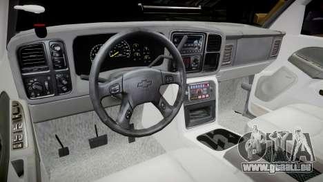Chevrolet Silverado SWAT [ELS] pour GTA 4 est une vue de l'intérieur