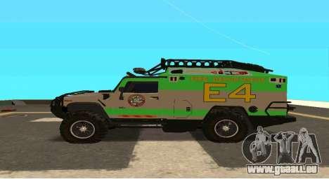 Hummer H2 Ratchet Transformers 4 pour GTA San Andreas laissé vue