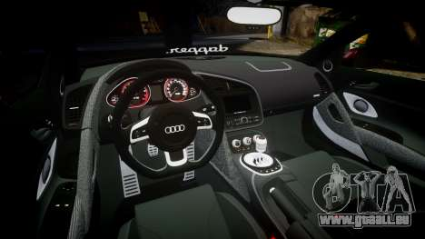 Audi R8 2010 Rotiform BLQ pour GTA 4 est une vue de l'intérieur