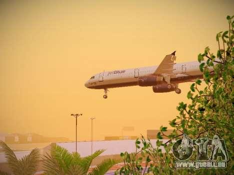Airbus A321-232 jetBlue Woo-Hoo jetBlue für GTA San Andreas obere Ansicht