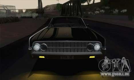 Lincoln Continental Berline (53А) 1962 pour GTA San Andreas vue arrière