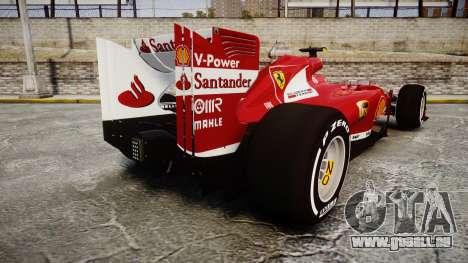 Ferrari F138 v2.0 [RIV] Massa TMD für GTA 4 hinten links Ansicht
