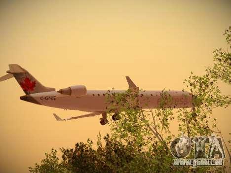 Bombardier CRJ-700 Air Canada Express pour GTA San Andreas sur la vue arrière gauche