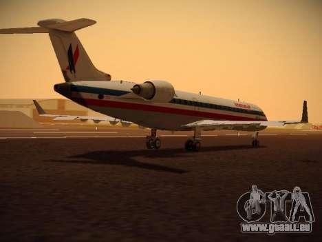 Bombardier CRJ-700 American Eagle für GTA San Andreas Rückansicht