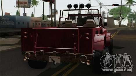 Canis Bodhi V1.0 Rusty für GTA San Andreas linke Ansicht