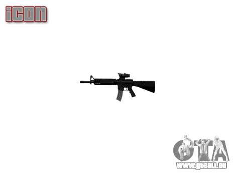 Fusil M16A4 ACOG pour GTA 4 troisième écran