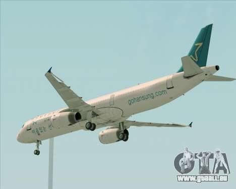 Airbus A321-200 Hansung Airlines für GTA San Andreas Innenansicht