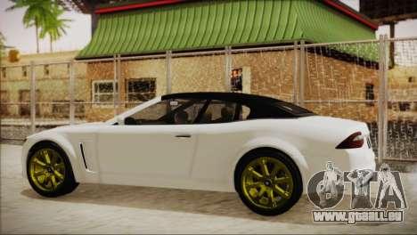 Lampadati Felon GT pour GTA San Andreas sur la vue arrière gauche