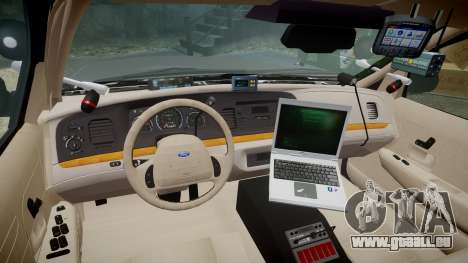 Ford Crown Victoria LASD [ELS] Unmarked pour GTA 4 Vue arrière