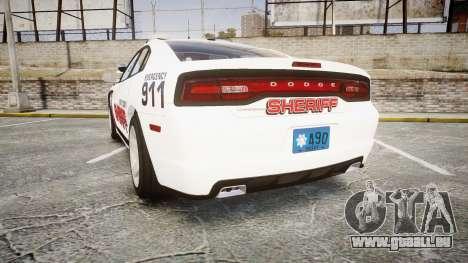 Dodge Charger RT 2013 LC Sheriff [ELS] pour GTA 4 Vue arrière de la gauche