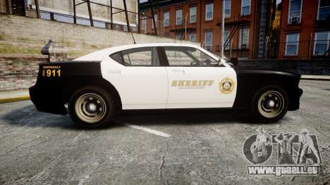 GTA V Bravado Buffalo LS Sheriff Black [ELS] Sli für GTA 4 linke Ansicht