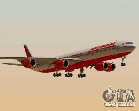 Airbus A340-600 Air India für GTA San Andreas Unteransicht