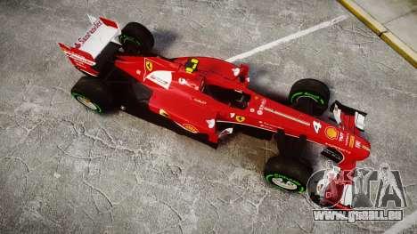 Ferrari F138 v2.0 [RIV] Massa TIW für GTA 4 rechte Ansicht