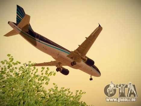 Airbus A320-214 Azerbaijan Airlines AZAL für GTA San Andreas obere Ansicht