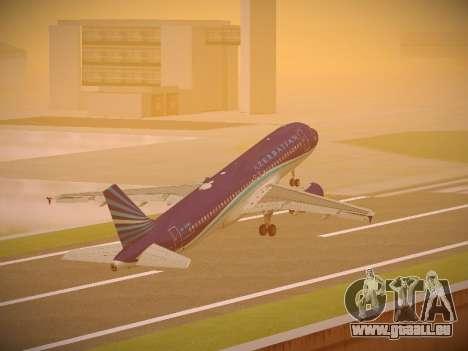 Airbus A320-214 Azerbaijan Airlines AZAL pour GTA San Andreas salon