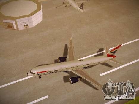 Boeing 757-236 British Airways für GTA San Andreas Rückansicht