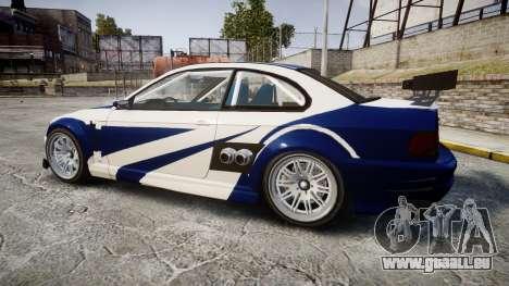Ubermacht Sentinel GTR Most Wanted style für GTA 4 linke Ansicht