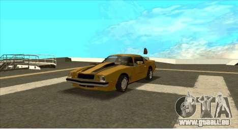 Chevrolet Camaro Z28 Bumblebee pour GTA San Andreas