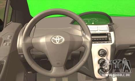 Toyota Yaris Shark Edition pour GTA San Andreas sur la vue arrière gauche