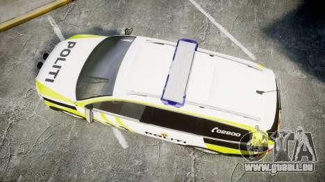 Volkswagen Passat 2014 Marked Norwegian Police für GTA 4 rechte Ansicht
