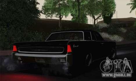 Lincoln Continental Berline (53А) 1962 pour GTA San Andreas laissé vue