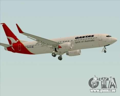 Boeing 737-838 Qantas (Old Colors) pour GTA San Andreas vue de dessus