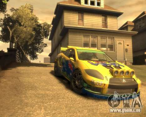 Mitsubishi Eclipse GT Rallycross für GTA 4 Rückansicht