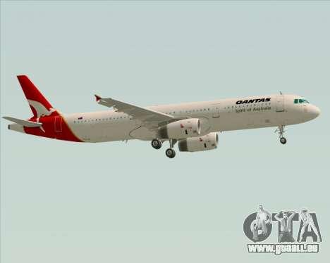 Airbus A321-200 Qantas für GTA San Andreas obere Ansicht