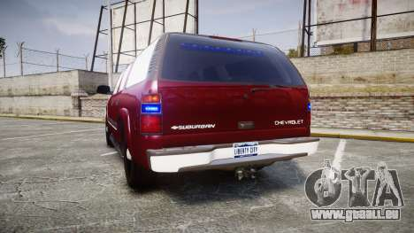 Chevrolet Suburban Undercover 2003 Black Rims für GTA 4 hinten links Ansicht