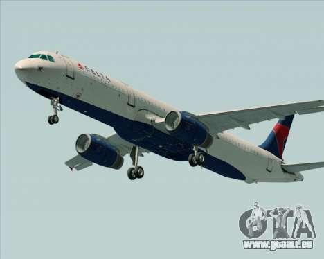 Airbus A321-200 Delta Air Lines für GTA San Andreas rechten Ansicht