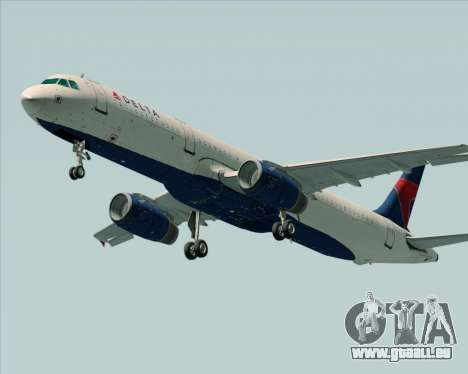 Airbus A321-200 Delta Air Lines pour GTA San Andreas vue de droite