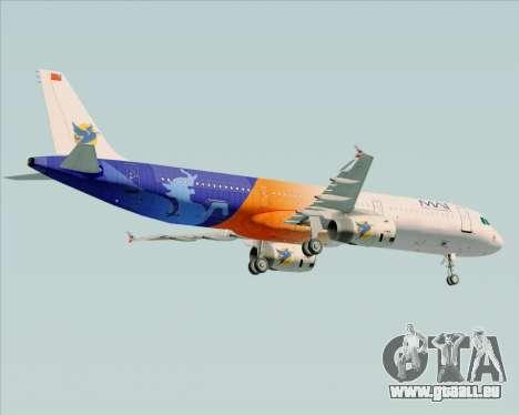 Airbus A321-200 Myanmar Airways International für GTA San Andreas rechten Ansicht