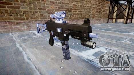 Gun UMP45 Blue Tiger für GTA 4