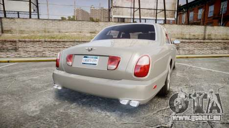 Bentley Arnage T 2005 Rims3 für GTA 4 hinten links Ansicht