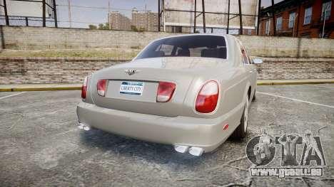 Bentley Arnage T 2005 Rims3 pour GTA 4 Vue arrière de la gauche