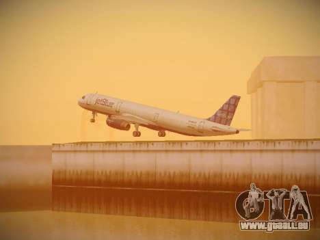 Airbus A321-232 jetBlue Blue Kid in the Town pour GTA San Andreas vue de dessus