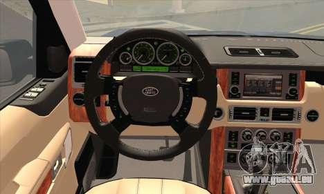 Range Rover Supercharged für GTA San Andreas zurück linke Ansicht