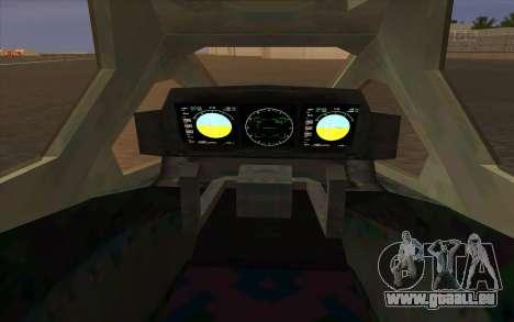 HELO4 Future Hunter pour GTA San Andreas vue de droite