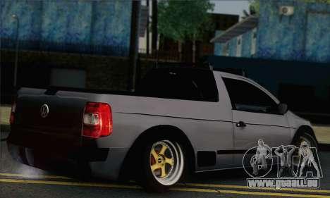 Volkswagen Saveiro Slammed pour GTA San Andreas laissé vue