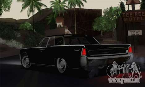 Lincoln Continental-Limousine (53А) 1962 für GTA San Andreas zurück linke Ansicht
