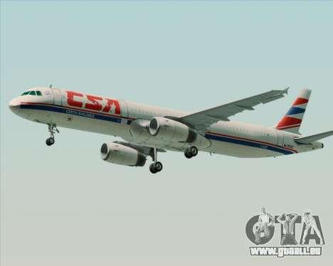 Airbus A321-200 CSA Czech Airlines für GTA San Andreas rechten Ansicht