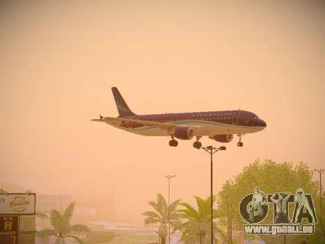 Airbus A320-214 Azerbaijan Airlines AZAL für GTA San Andreas Innenansicht