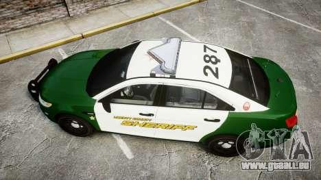 Ford Taurus 2014 Liberty City Sheriff [ELS] für GTA 4 rechte Ansicht