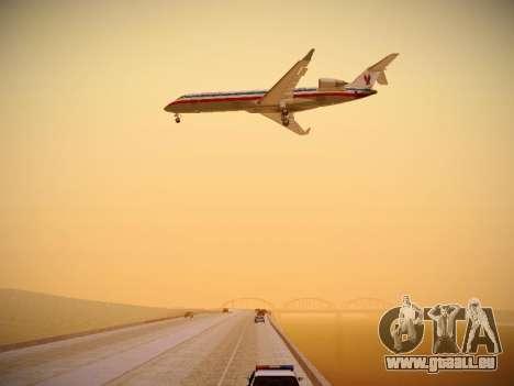 Bombardier CRJ-700 American Eagle pour GTA San Andreas vue de dessous