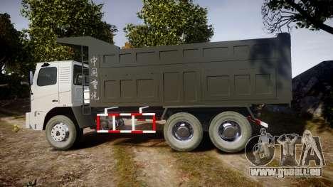 HOWO Truck für GTA 4 linke Ansicht