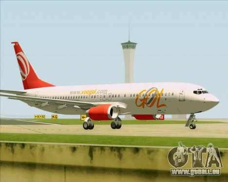 Boeing 737-800 Gol Transportes Aéreos pour GTA San Andreas vue de côté