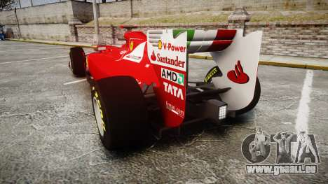 Ferrari 150 Italia Alonso pour GTA 4 Vue arrière de la gauche